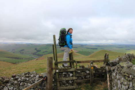 Stile crossing, Cheviots, St Cuthbert's Way