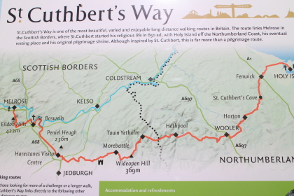 Map of St Cuthbert's Way