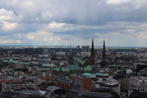 View from St Michaelis Church Hamburg
