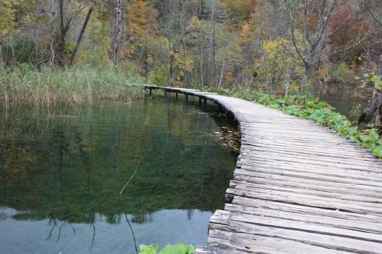 Wooden walkway, Plitvice Lakes
