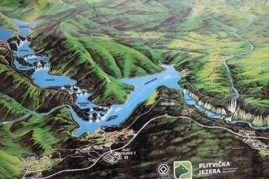 Map of Plitvice Lakes
