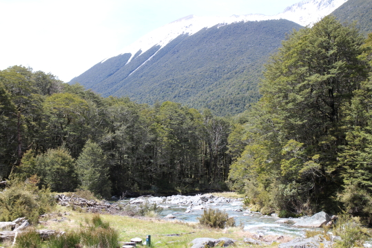 View from John Tait Hut, snowline dropping