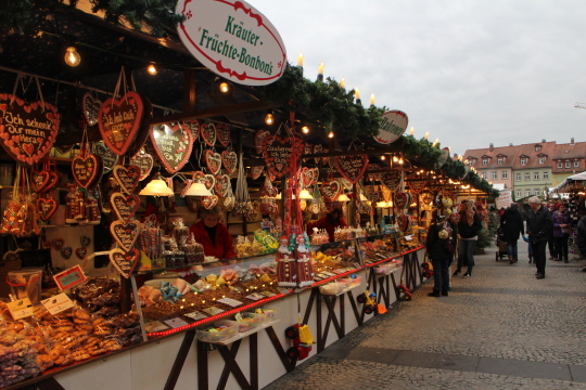 Bamberg Christmas market during the day