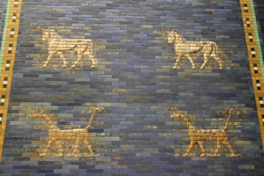 Part of the Ishtar Gate in the Pergamon Museum