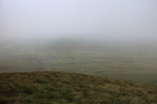 Pen-y-Ghent changing weather