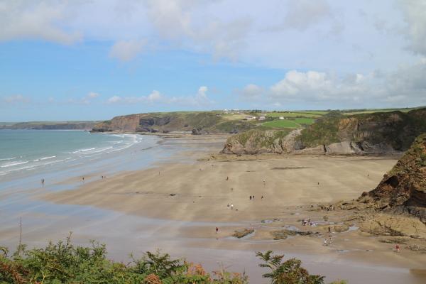 Pembrokeshire Coastal Path beach